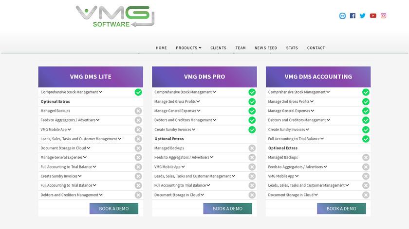 VMG DMS Landing Page