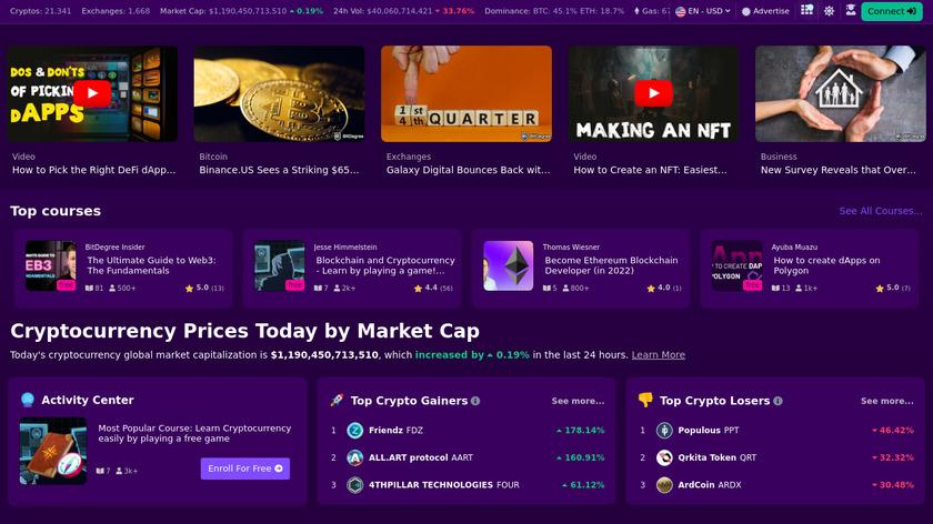 BitDegree Landing Page
