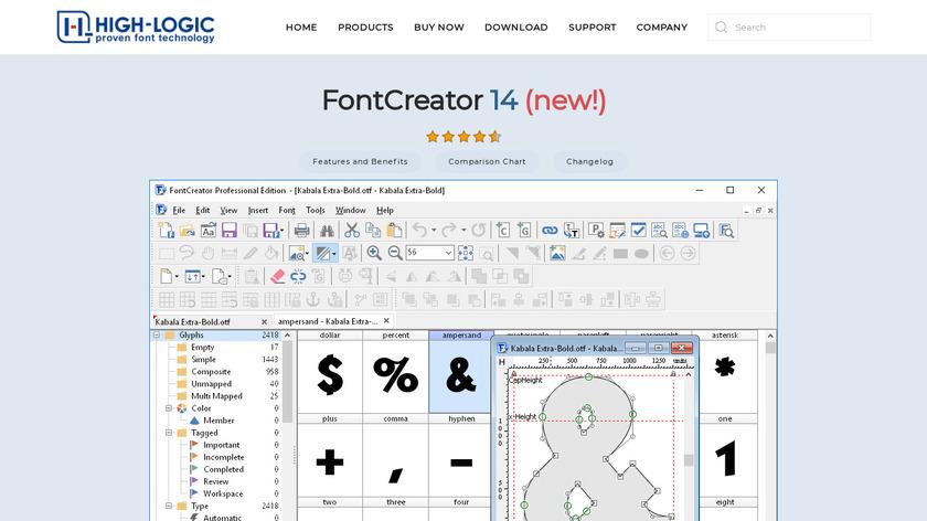 FontCreator Landing Page