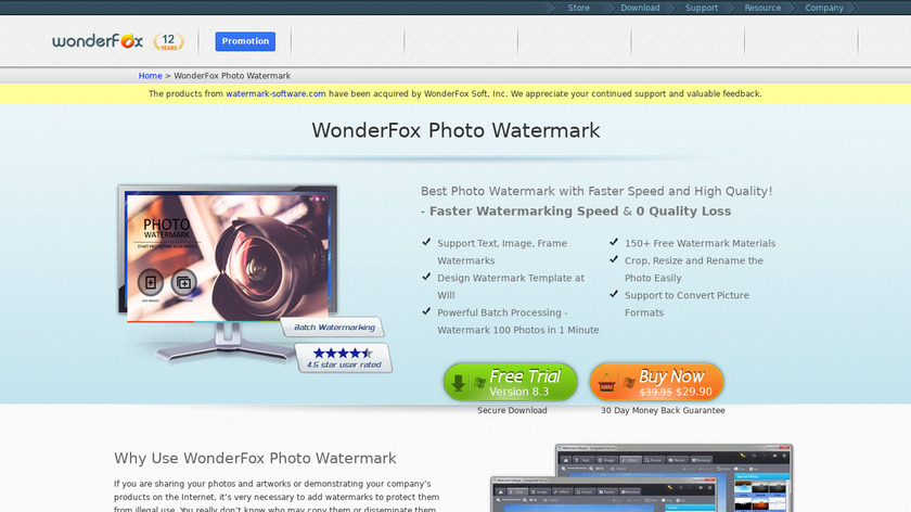 WonderFox Photo Watermark Landing Page