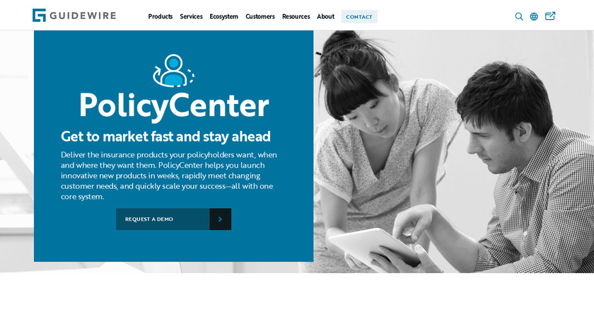 PolicyCenter Landing Page