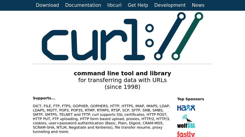 cURL Landing Page