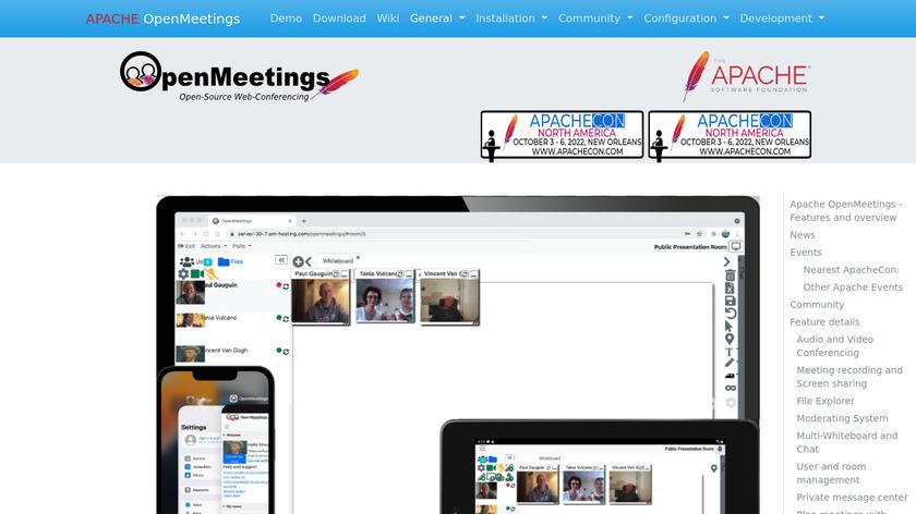 OpenMeetings Landing Page