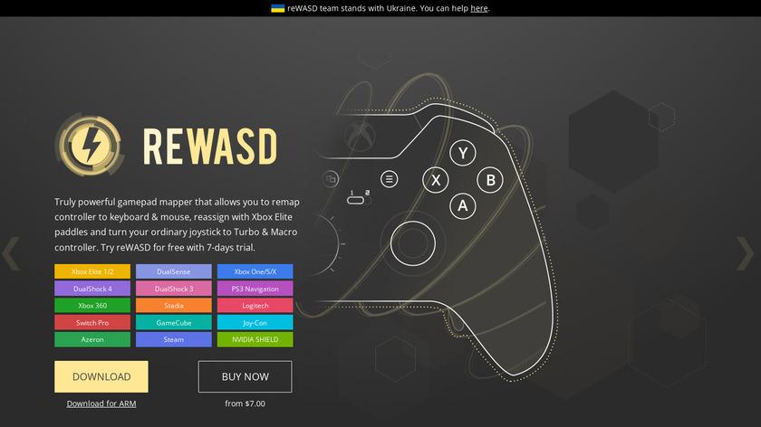 reWASD Landing Page