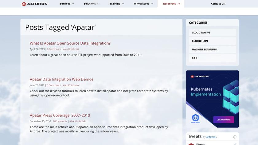 apatar Landing Page
