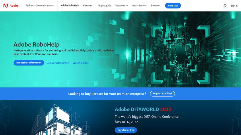 Adobe RoboHelp Landing Page