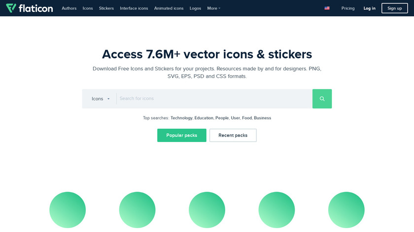 Flaticon Landing Page