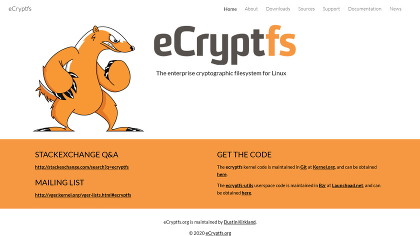 eCryptfs Landing Page