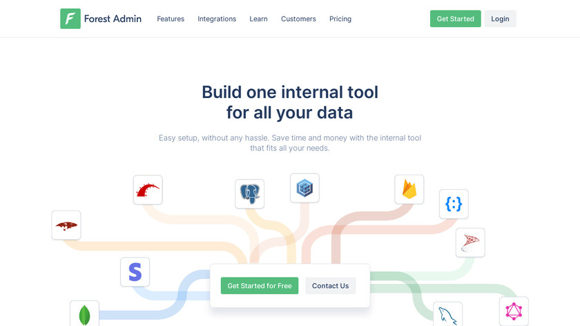 Forest Admin Landing Page