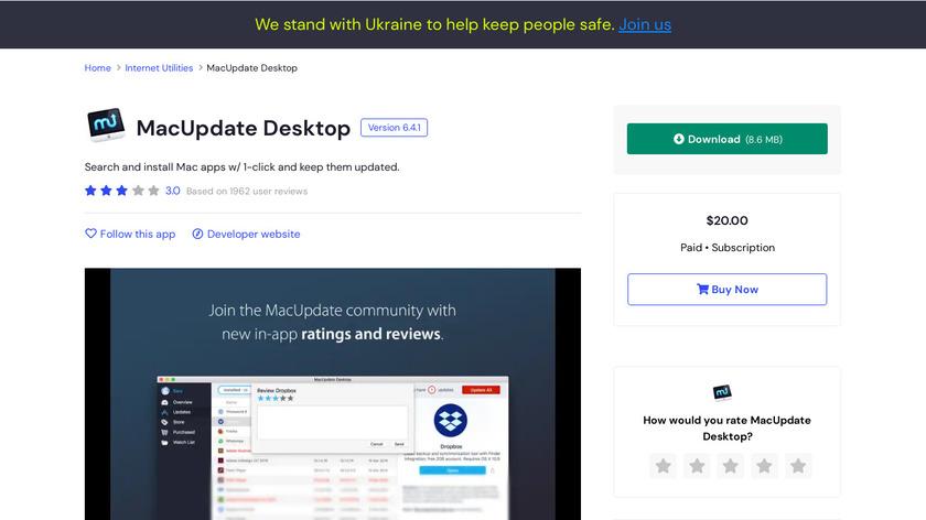 MacUpdate Desktop Landing Page