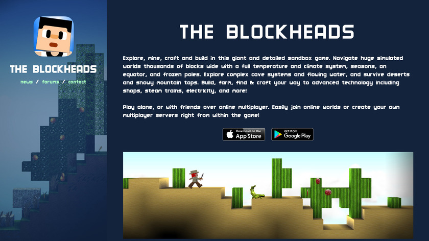 The Blockheads Landing Page