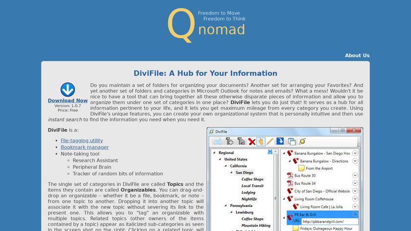 DiviFile Landing Page