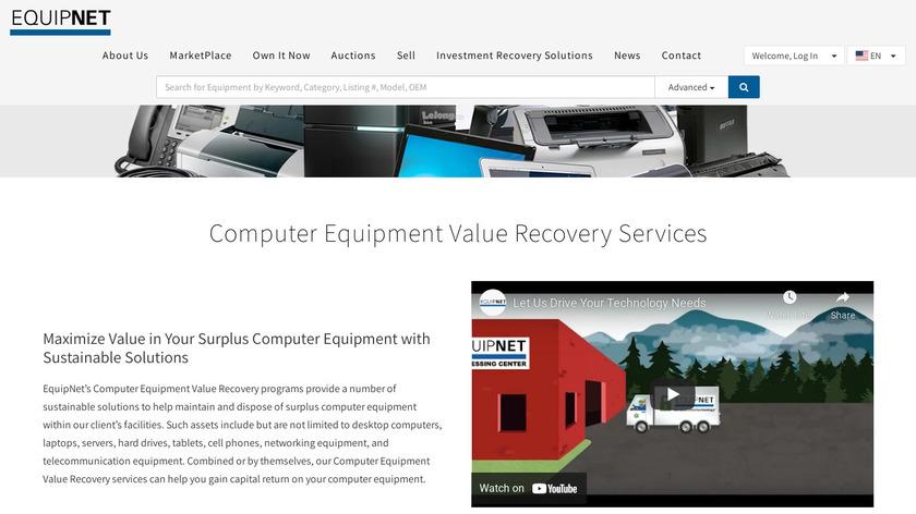 EquipNet Landing Page