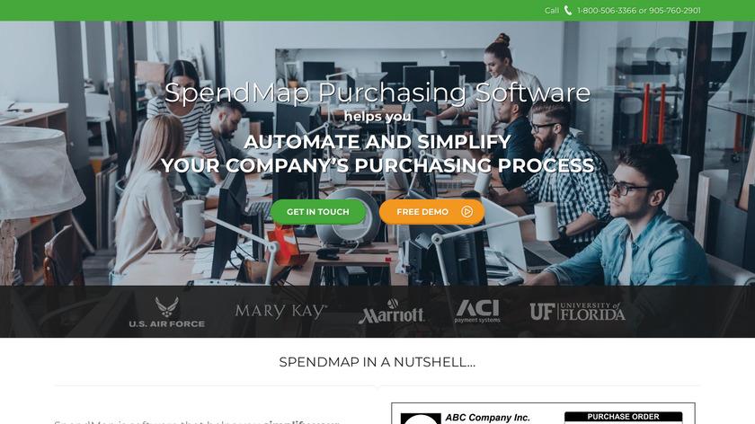 SpendMap Landing Page