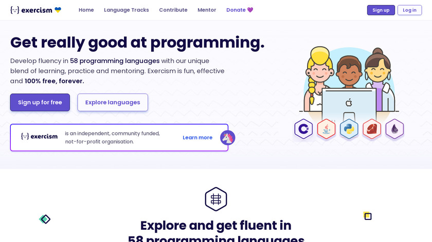 exercism Landing Page