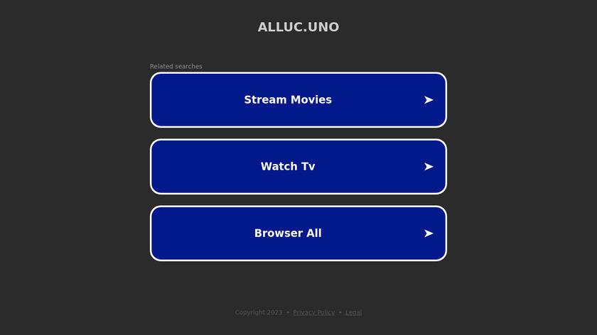 Alluc.uno Landing Page