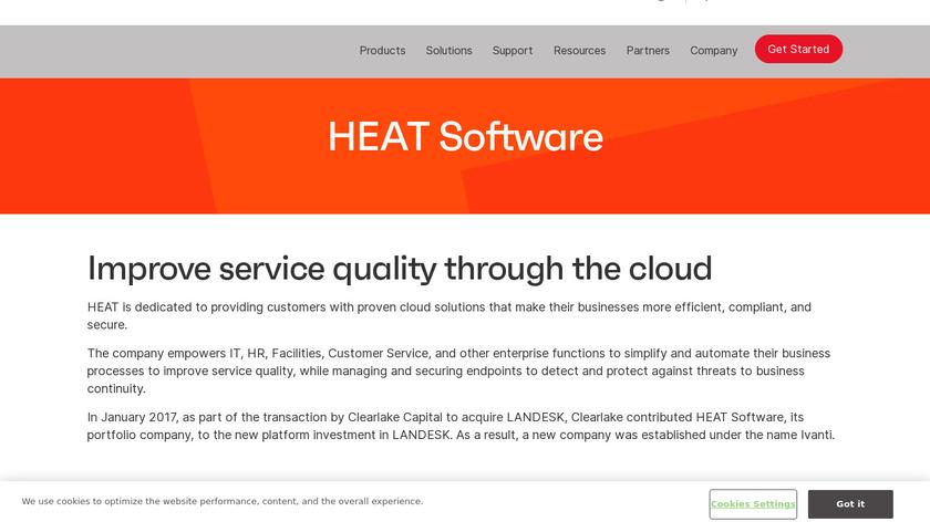 HEAT Software Landing Page