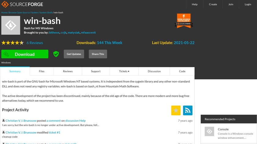 win-bash Landing Page