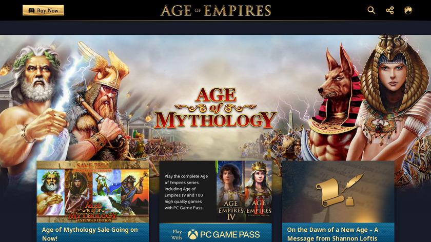 Age of Mythology Landing Page