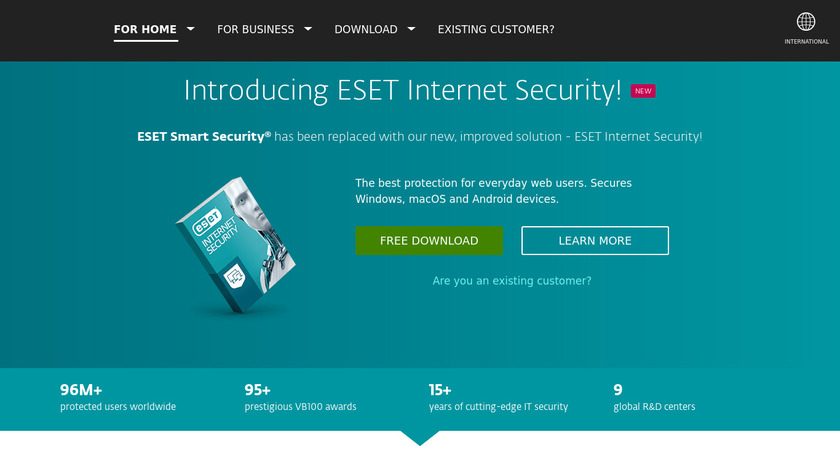 ESET Smart Security Landing Page