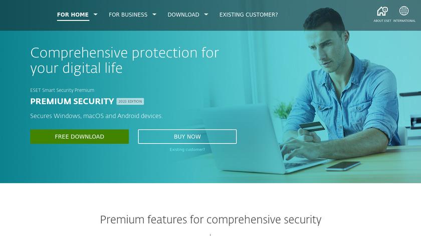 ESET Smart Security Landing Page