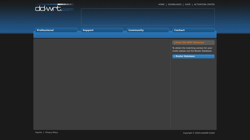 DD-WRT Landing Page