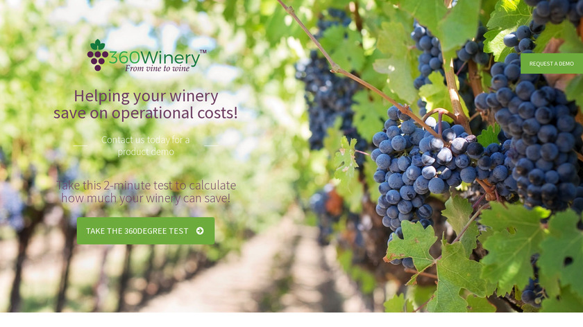 360Winery Landing Page