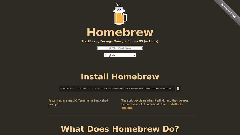 Homebrew Landing Page