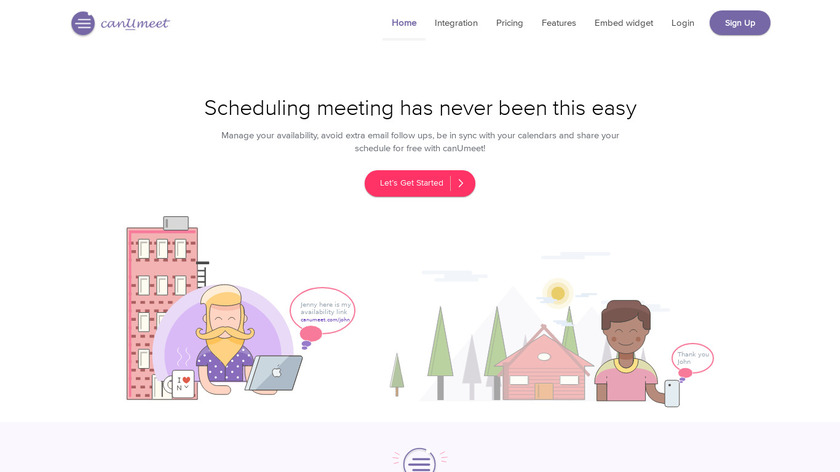 canUmeet Landing Page
