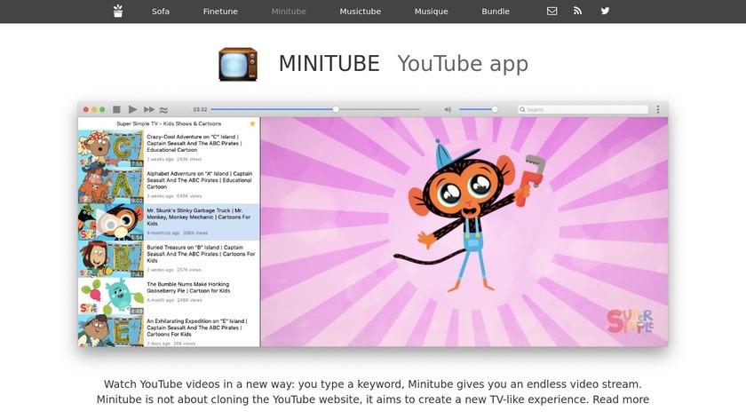 Minitube Landing Page