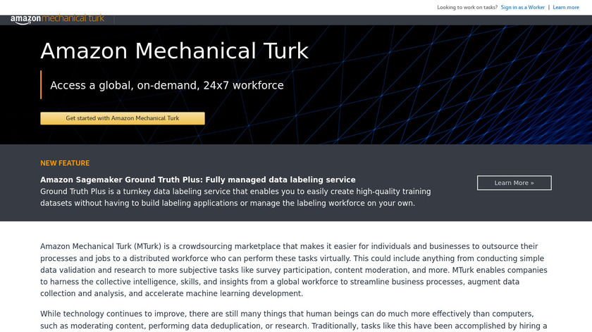 Amazon Mechanical Turk Landing Page