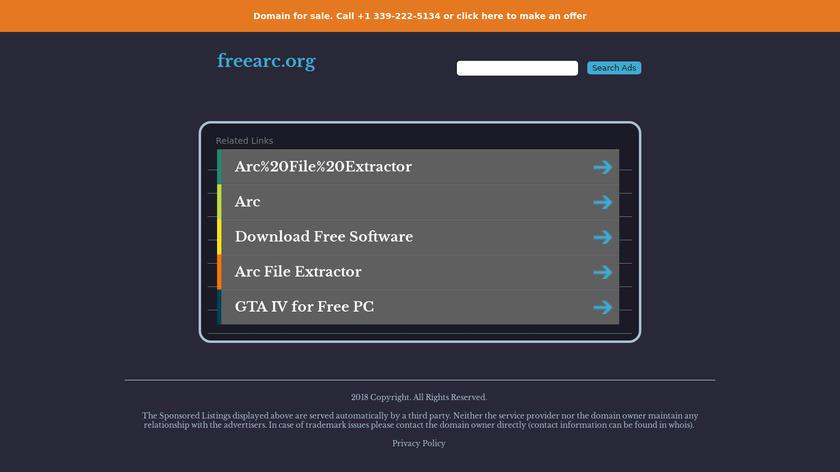 FreeArc Landing Page