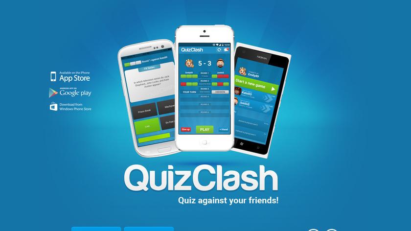 QuizClash Landing Page