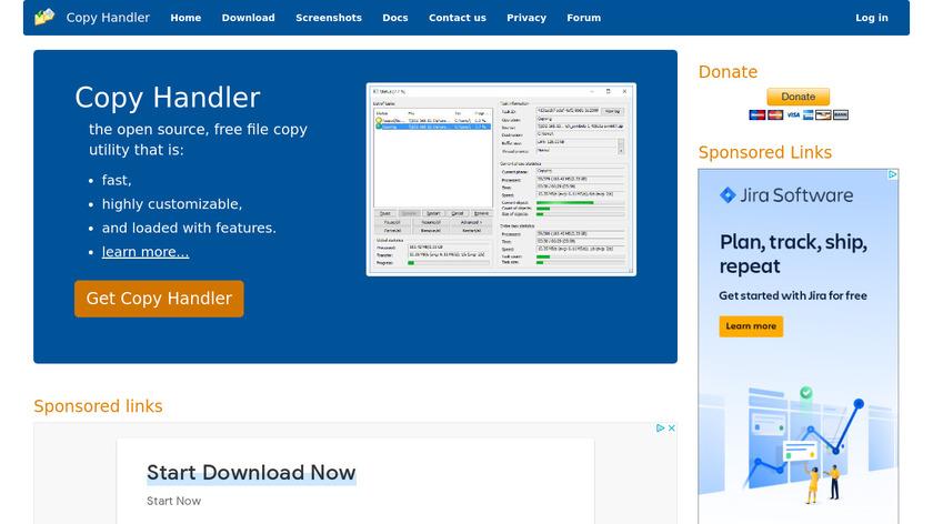 Copy Handler Landing Page