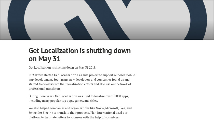 Get Localization Landing Page