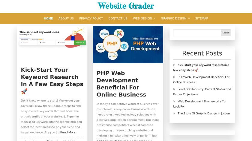 Website-Grader.com Landing Page