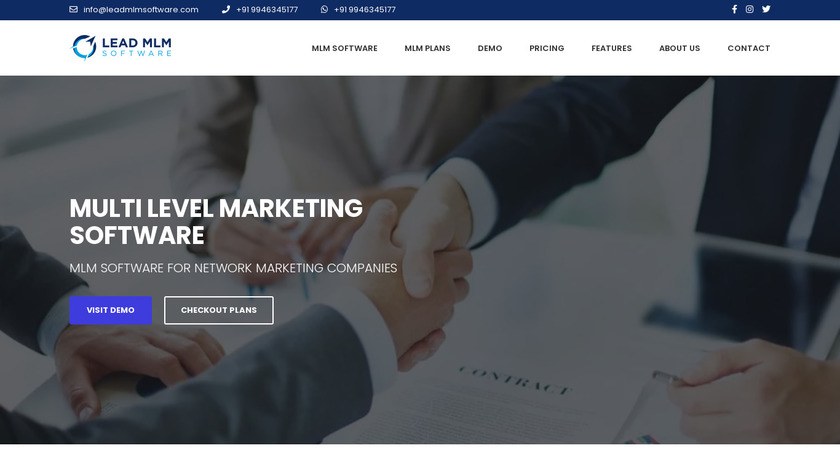 Lead MLM Software Landing Page