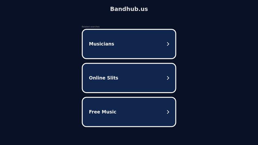 Bandhub Landing Page