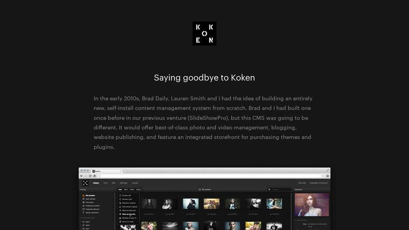 Koken.me Landing Page
