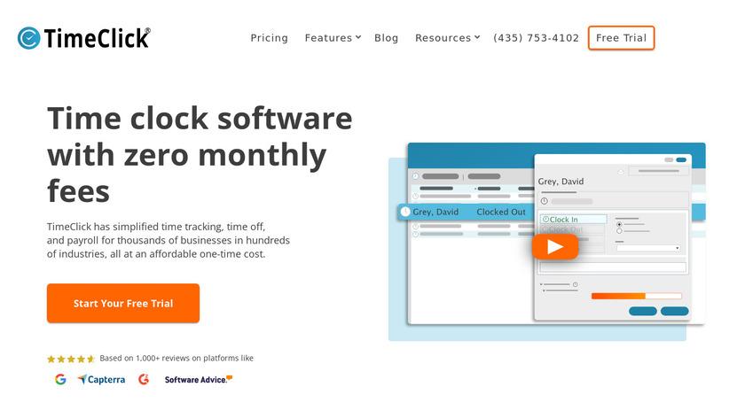 TimeClick Landing Page