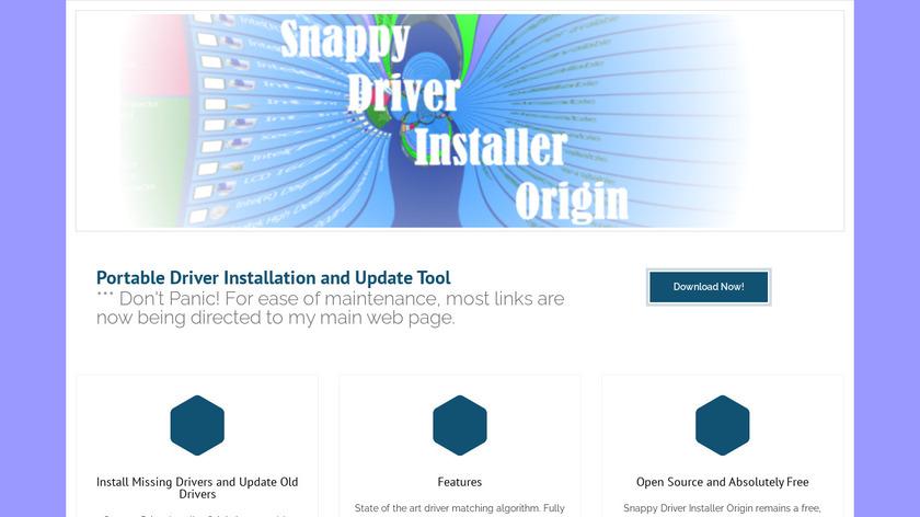 Snappy Driver Installer Origin Landing Page