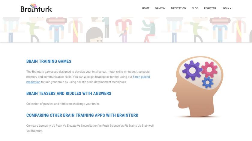 Brainturk Landing Page