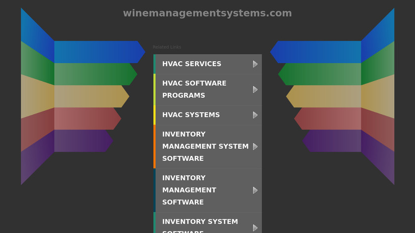 Wine Management Systems Landing Page