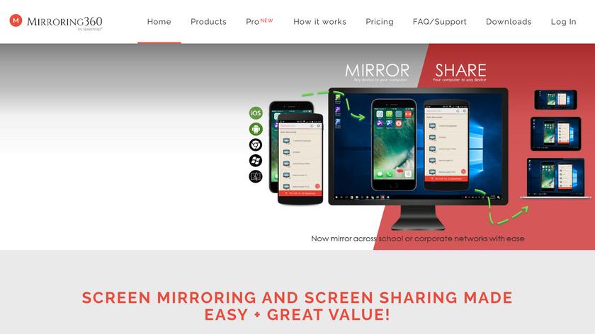 Mirroring360 Landing Page