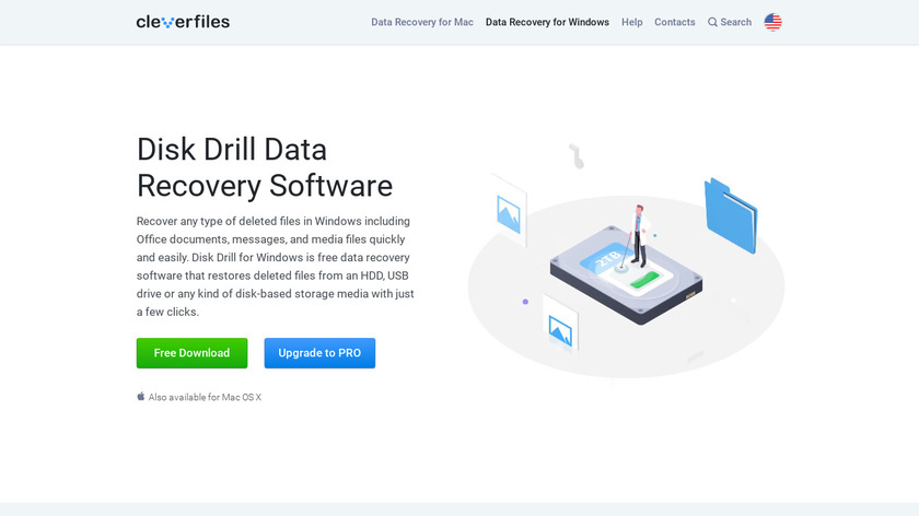 Disk Drill by Cleverfiles Landing Page