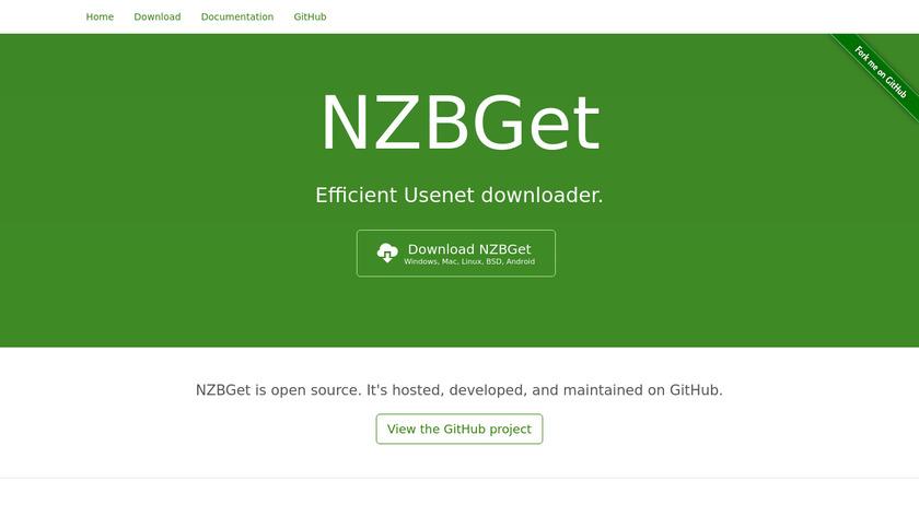 NZBGet Landing Page