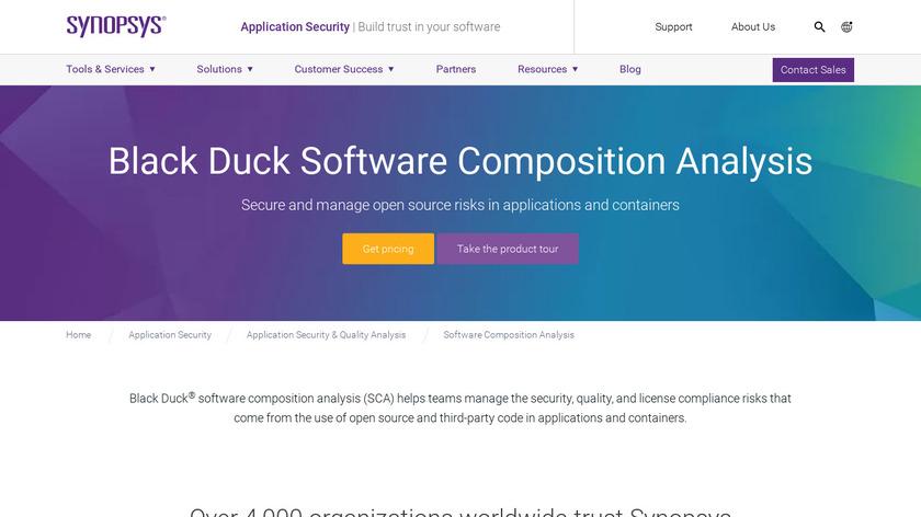 Black Duck Hub Landing Page