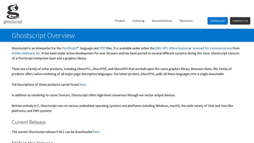 Ghostscript Landing Page