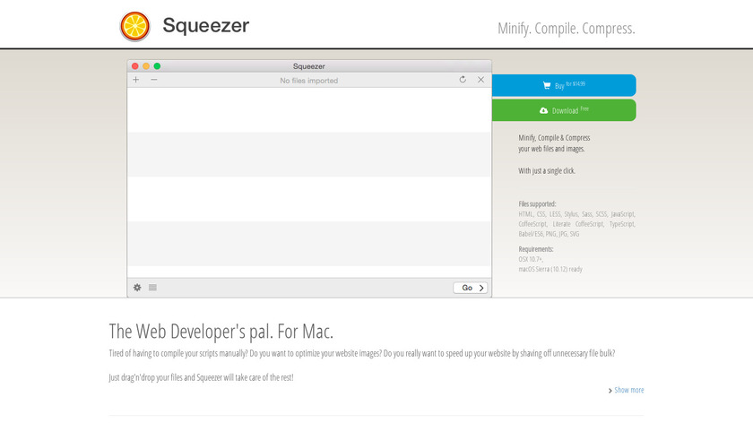 Squeezer Landing Page