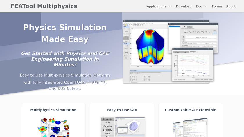 FEATool Multiphysics Landing Page